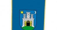 Stolna zastava grada Zagreba, 10x20 sa stalkom